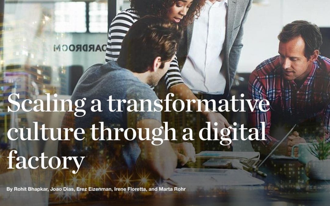 Scaling a transformative culture through a digital factory